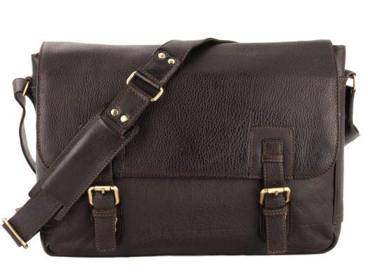Сумка мужская горизонтальная Ashwood Leather Westminster Jasper Dark Brown