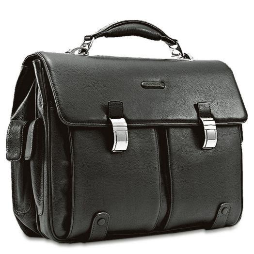 Портфель кожаный с двумя замками Piquadro CA1068MO/N