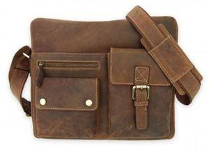 Мужская сумка Visconti Hunter Scott 16077 Oil Tan