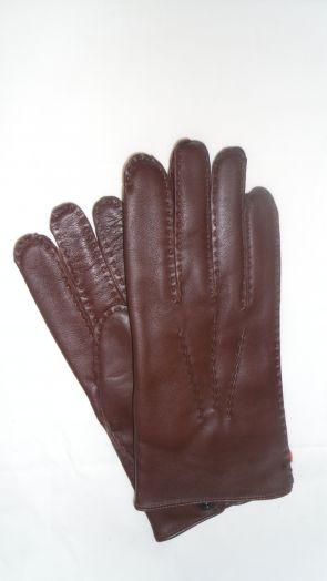 Перчатки зимние кожаные мужские HRAD 1590 mocca