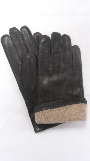Перчатки зимние кожаные мужские HRAD 8031 mocco