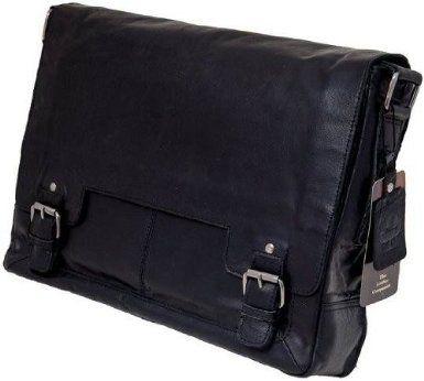 Сумка мужская горизонтальная Ashwood Leather Kingston 8343 Black