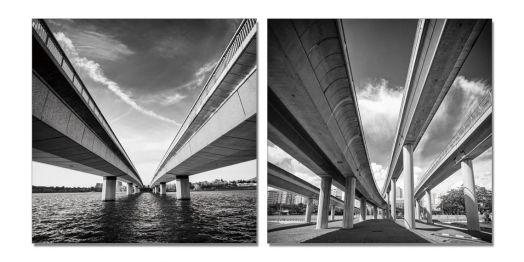 """Модульная картина """"Живописный мост"""" 70x70"""