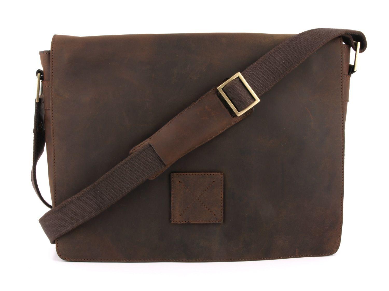 Купить Мужская горизонтальная сумка из натуральной кожи
