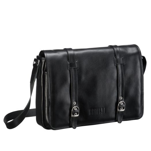Мужская горизонтальная сумка BRIALDI Turin (Турин) black