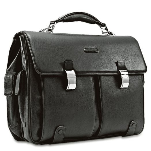 Портфель кожаный с двумя замками Piquadro Modus CA1068MO/N